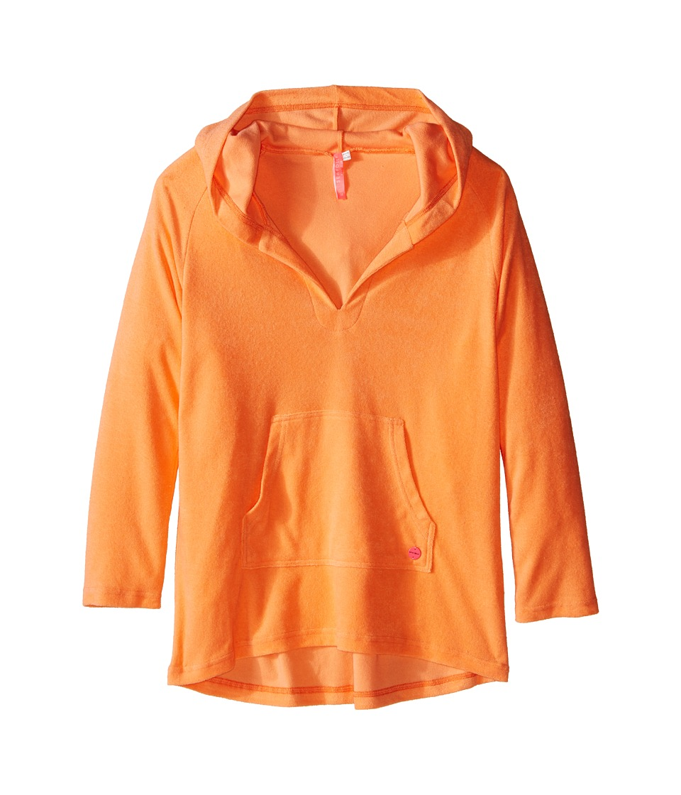 Seafolly Kids - Skipper Hoodie Cover-Up (Big Kids) (Rock Melon) Girl's Swimwear