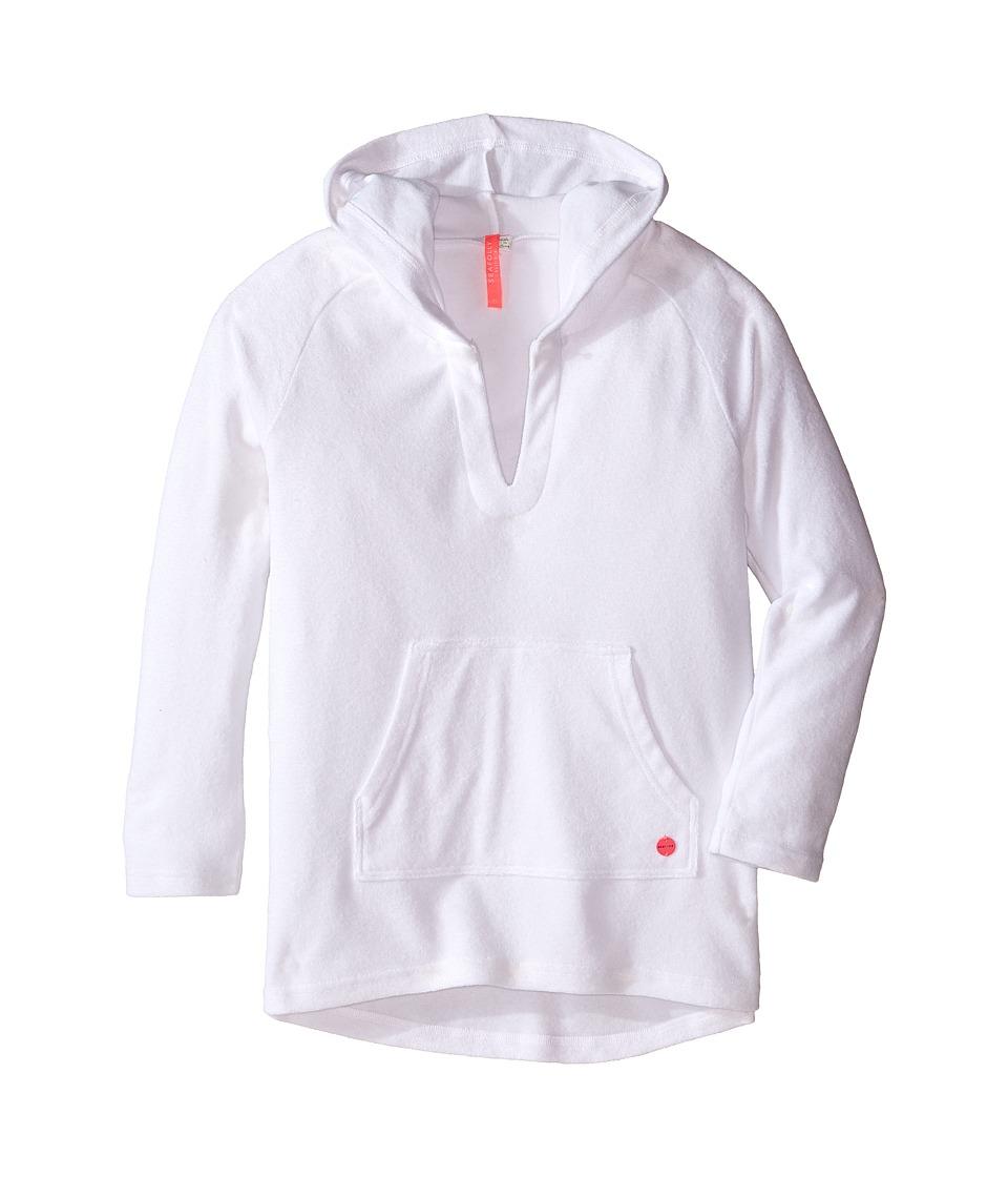 Seafolly Kids - Skipper Hoodie Cover-Up (Big Kids) (White) Girl's Swimwear