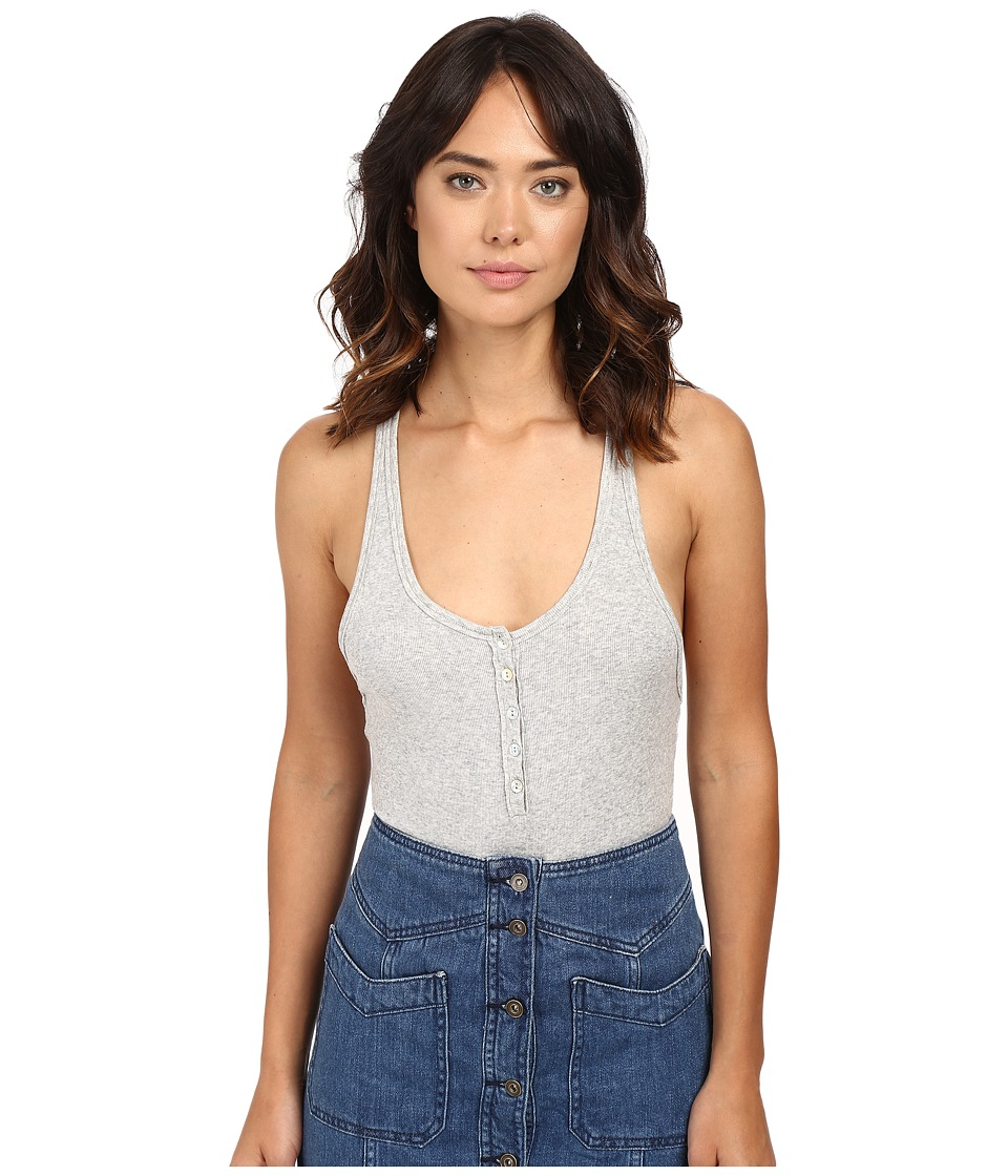 Free People - Hooked on You Bodysuit (Grey) Women's Jumpsuit & Rompers One Piece