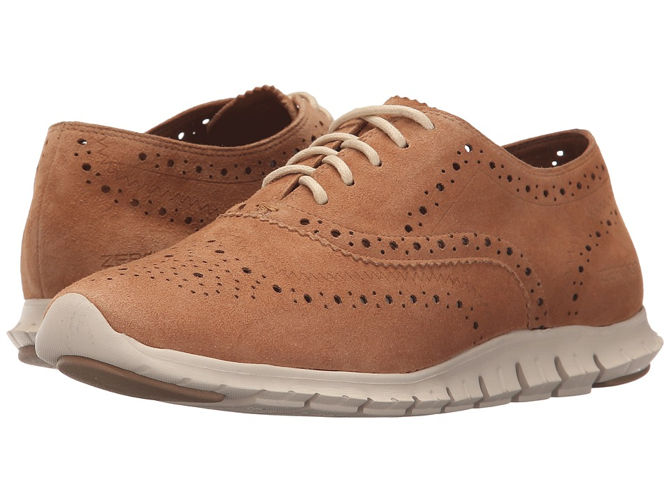 Cole Haan - Zerogrand Wing Oxford (Pecan Suede/Oyster Grey) Women's Shoes