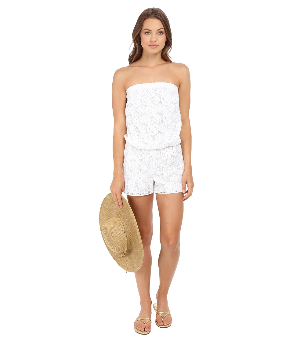 Lilly Pulitzer - Lilah Romper (Resort White Sandollar Lace) Women's Jumpsuit & Rompers One Piece