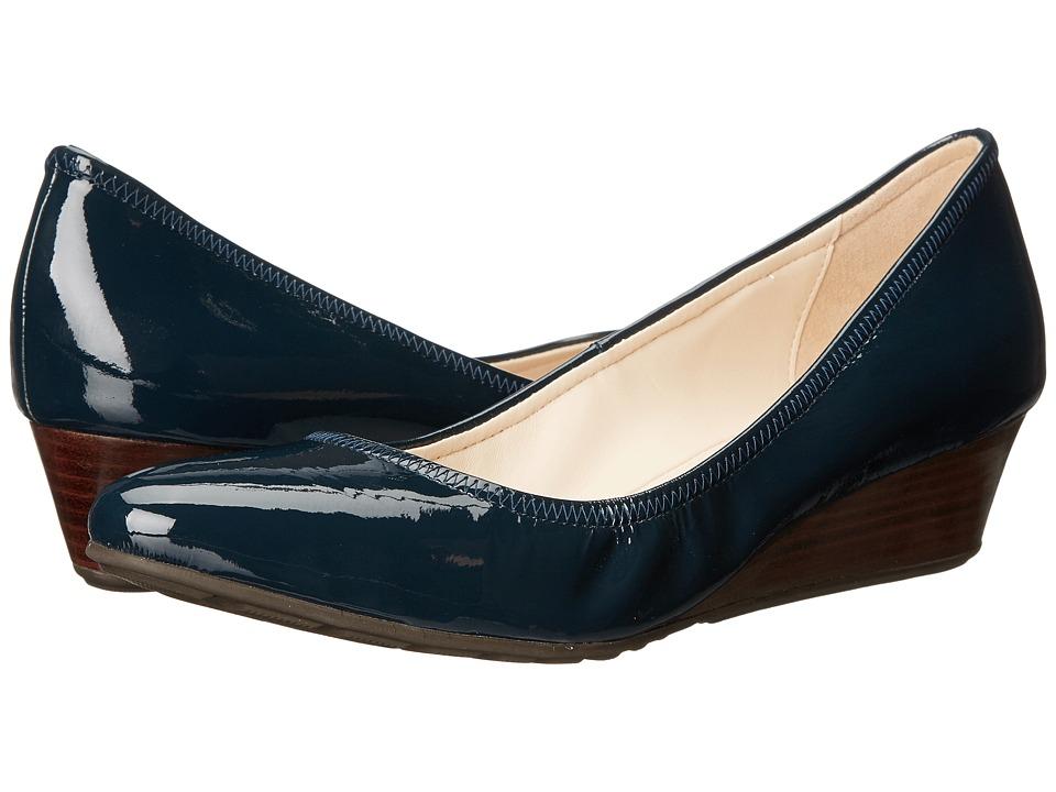 Cole Haan - Tali Luxe Wedge 40 (Blazer Blue Patent) Women
