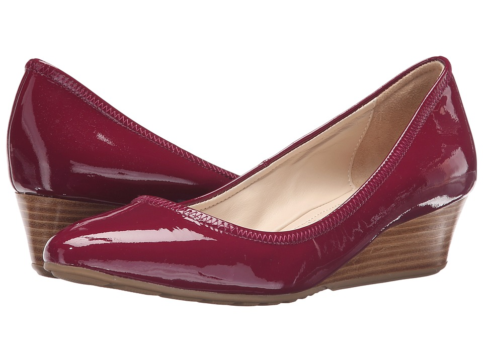 Cole Haan - Tali Luxe Wedge 40 (Beet Red Patent) Women's Slip-on Dress Shoes