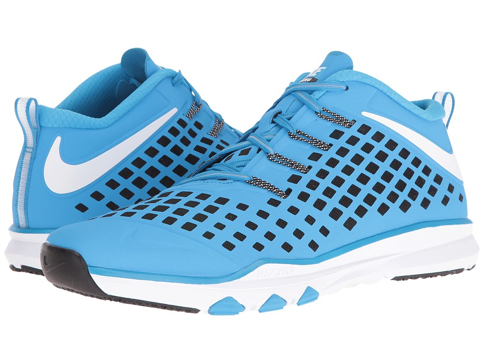 Nike - Train Quick (Blue Glow/White/Black/Volt) Men's Shoes