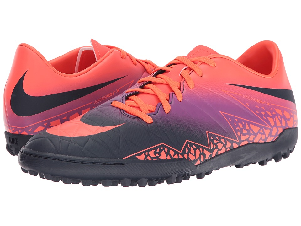 Nike - Hypervenom Phelon II TF (Total Crimson/Obsidian/Vivid Purple/Bright Crimson) Men's Soccer Shoes