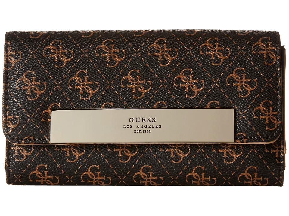 GUESS - Isla SLG Multi Clutch (Brown) Clutch Handbags