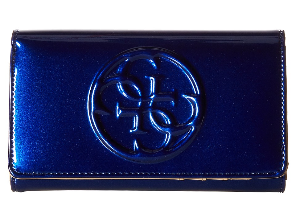 GUESS - Korry SLG Phone Organizer (Indigo) Clutch Handbags