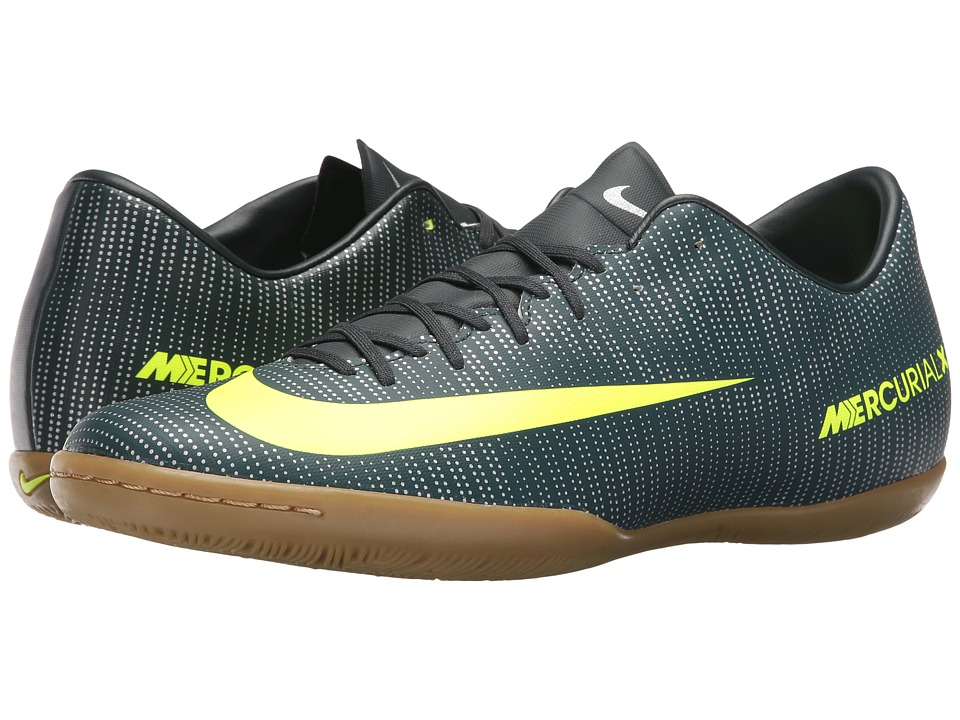 Nike - MercurialX Victory VI CR7 IC (Seaweed/Volt/Hasta/White) Men's Soccer Shoes