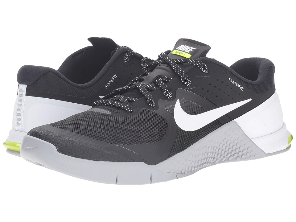 Nike - Metcon 2 (Black/White/Wolf Grey/Volt) Men's Cross Training Shoes