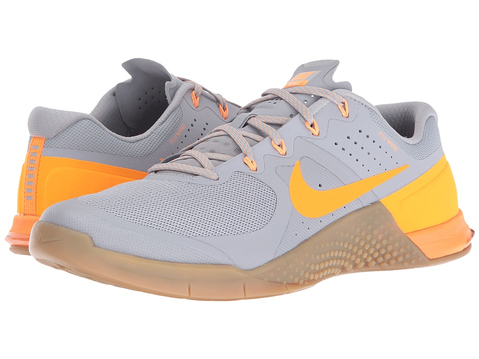 Nike - Metcon 2 (Wolf Grey/Bright Citrus/Medium Brown) Men's Cross Training Shoes