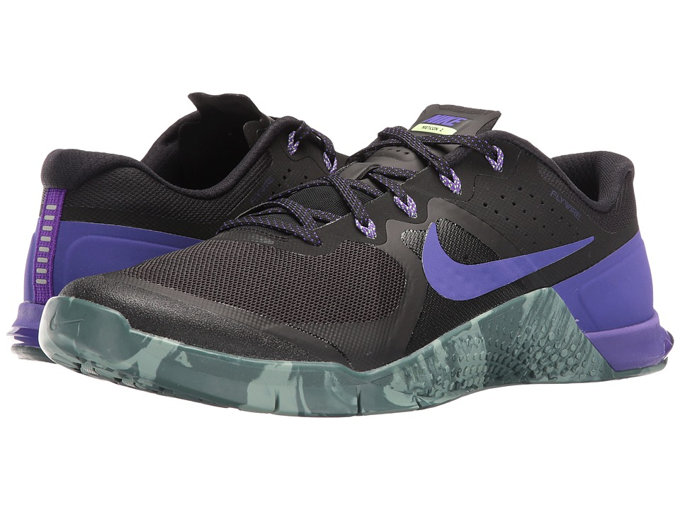 Nike - Metcon 2 (Black/Fierce Purple/Hasta/Cannon) Men's Cross Training Shoes