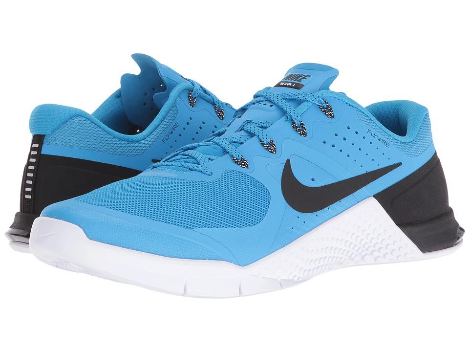 Nike - Metcon 2 (Blue Glow/Black/White) Men's Cross Training Shoes