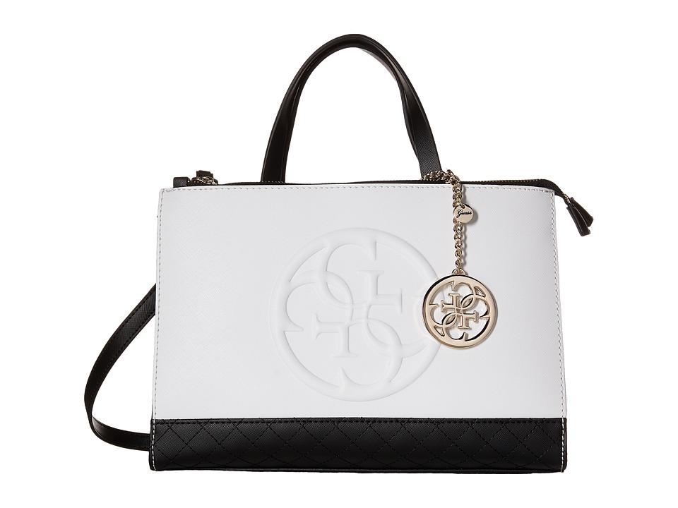 GUESS - Korry Status Satchel (Black Multi) Satchel Handbags