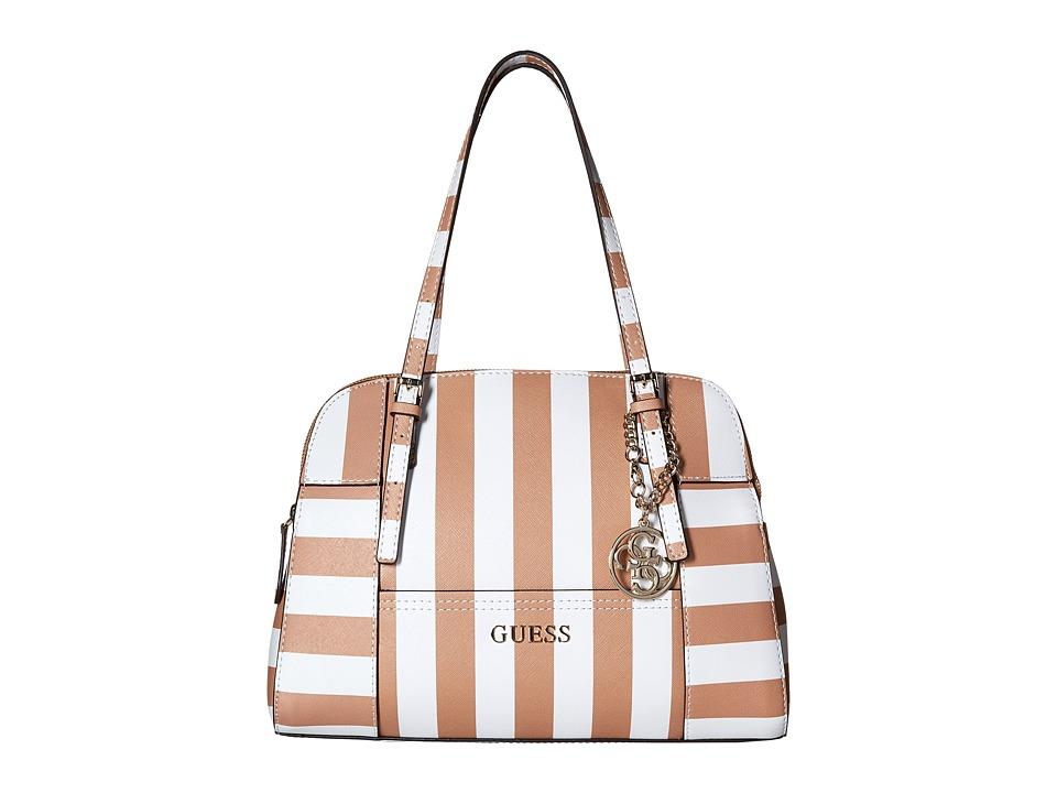 GUESS - Huntley Cali Satchel (Cognac Multi) Satchel Handbags