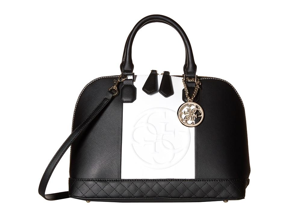 GUESS - Korry Dome Satchel (Black Multi) Satchel Handbags