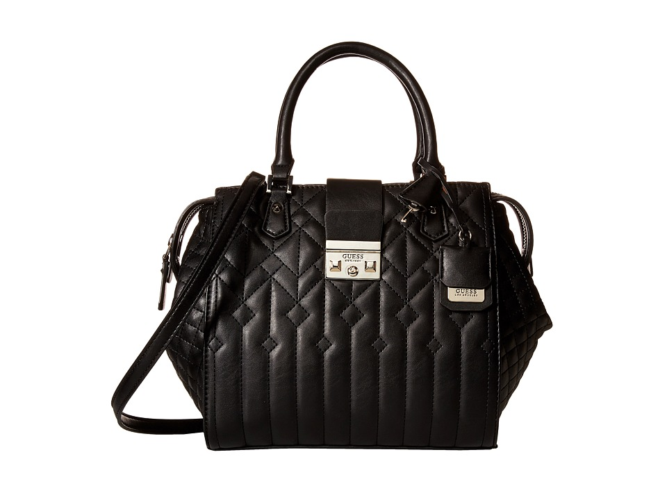 GUESS - Kalen Box Satchel (Black) Satchel Handbags