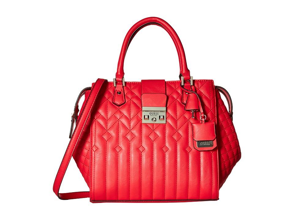 GUESS - Kalen Box Satchel (Lipstick) Satchel Handbags