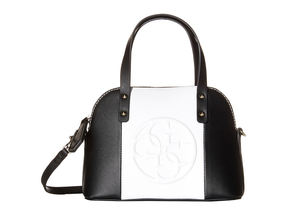 GUESS - Korry Petite Dome Satchel (Black Multi) Satchel Handbags