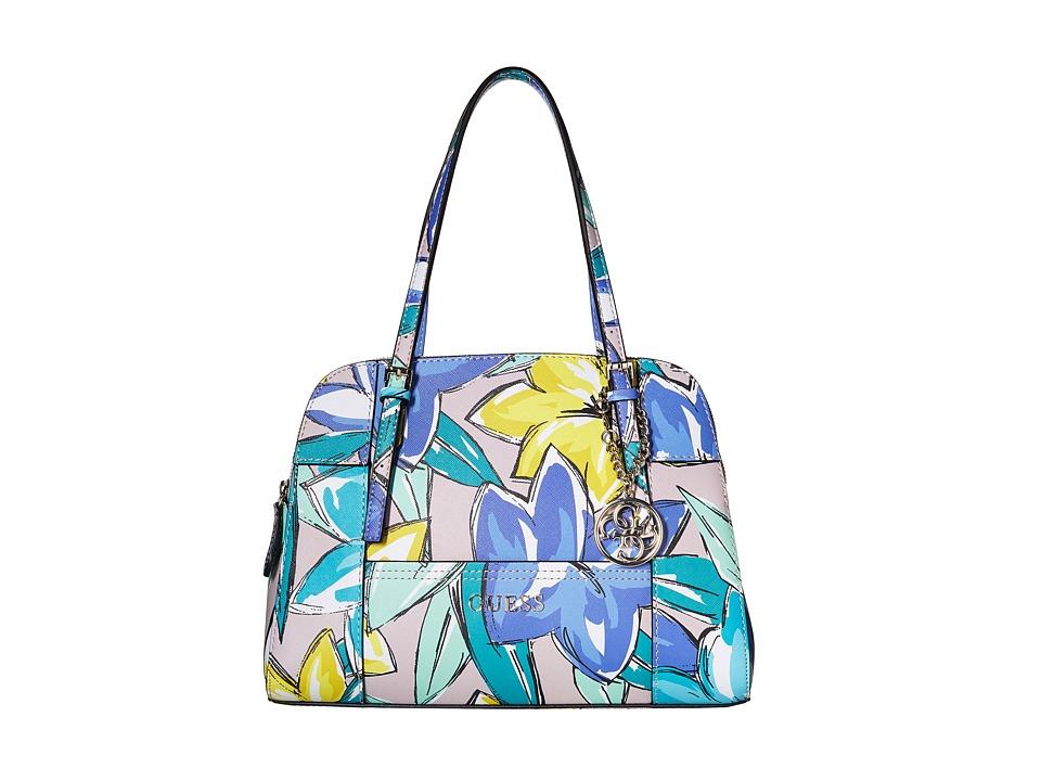 GUESS - Huntley Cali Satchel (Periwinkle Multi) Satchel Handbags