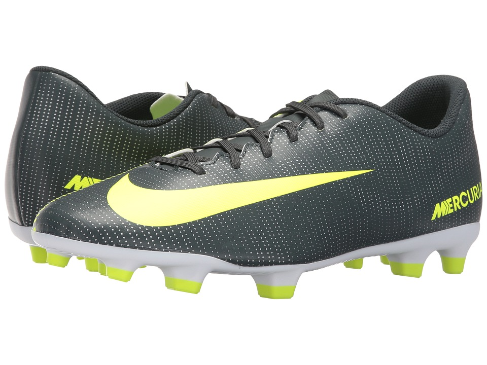 Nike - Mercurial Vortex III CR7 FG (Seaweed/Volt/Hasta/White) Men's Soccer Shoes