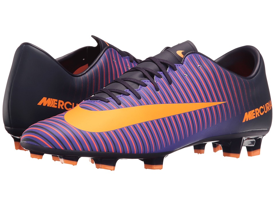 Nike - Mercurial Victory VI FG (Purple Dynasty/Hyper Grape/Total Crimson/Bright Citrus) Men's Soccer Shoes
