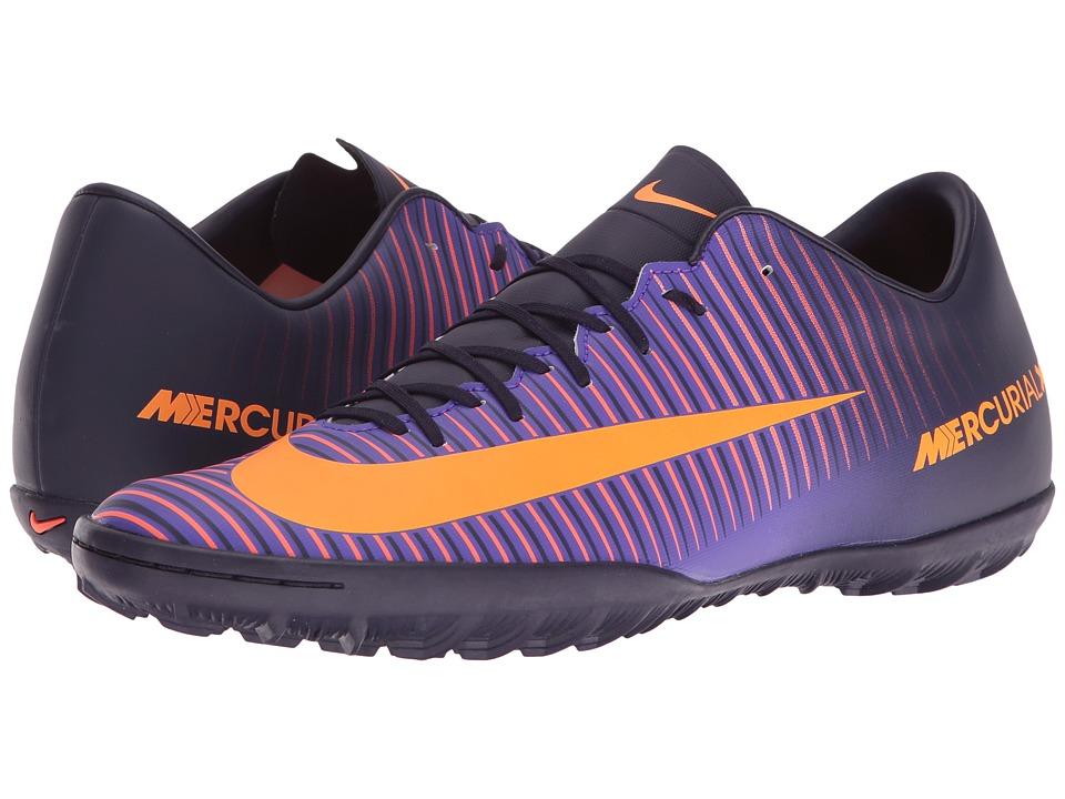 Nike - Mercurial Victory VI TF (Purple Dynasty/Bright Citrus/Hyper Grape) Men's Soccer Shoes