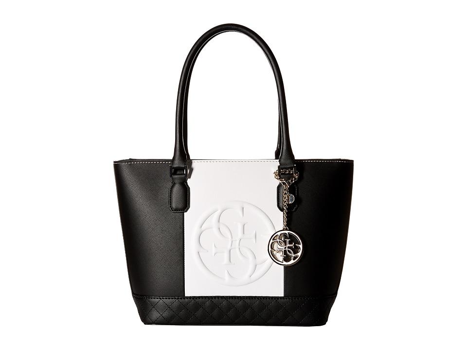 GUESS - Korry Small Classic Tote (Black Multi) Tote Handbags