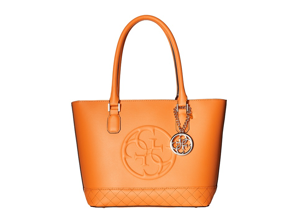 GUESS - Korry Small Classic Tote (Orange) Tote Handbags