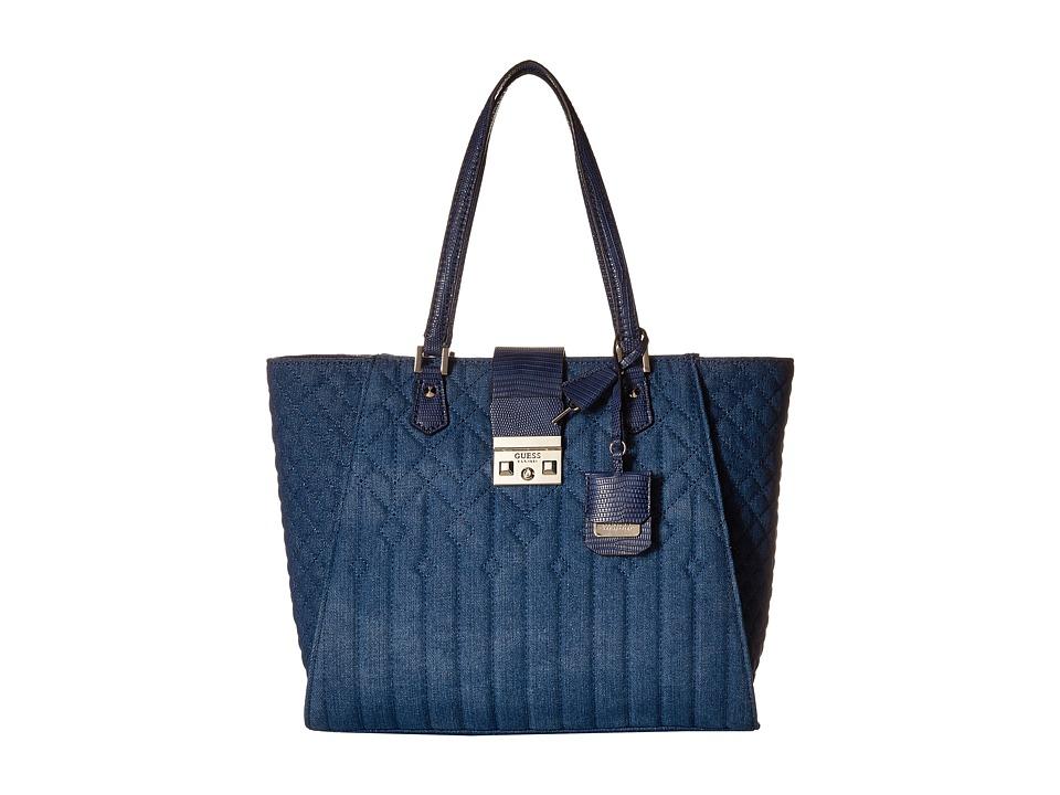 GUESS - Kalen Carryall (Denim) Handbags