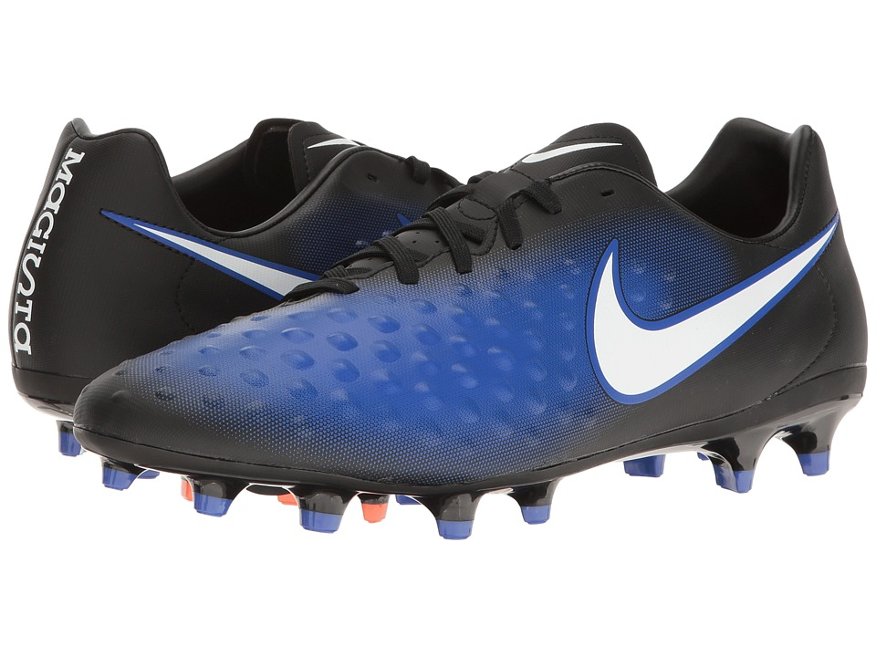 Nike - Magista Onda II FG (Black/White/Paramount Blue/Blue Tint) Men's Shoes