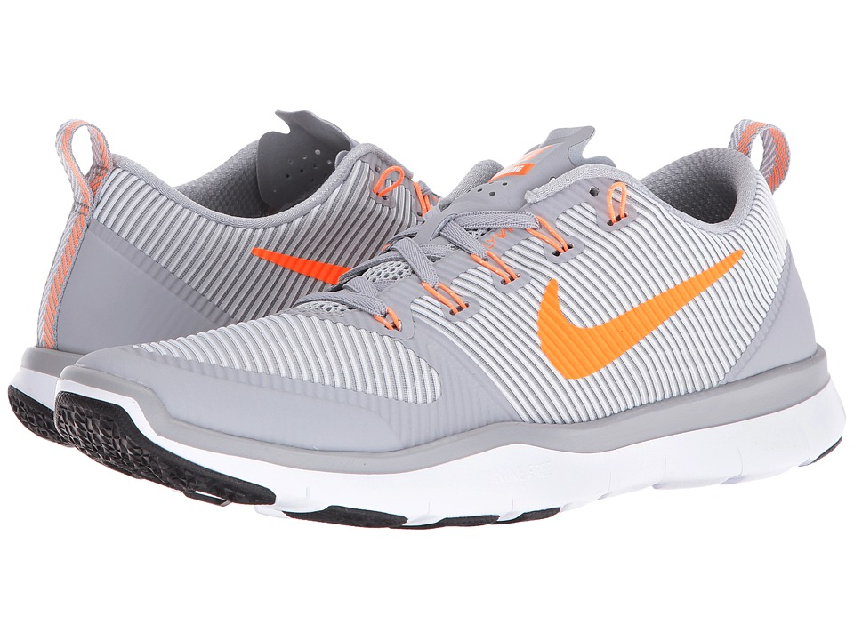 Nike - Free Train Versatility (Wolf Grey/Bright Citrus/White/Black) Men's Cross Training Shoes