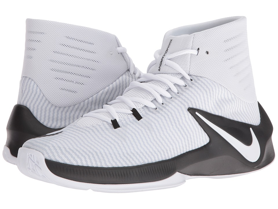 Nike - Zoom Clear Out (Black/White/Pure Platinum) Men's Basketball Shoes
