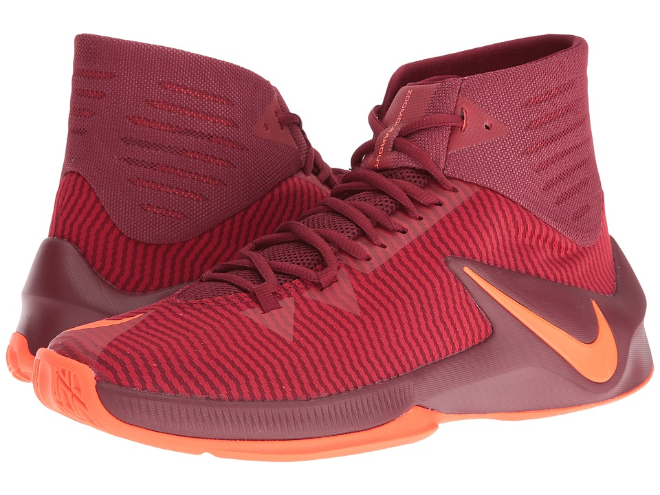Nike - Zoom Clear Out (Team Red/Total Crimson/Gym Red) Men's Basketball Shoes