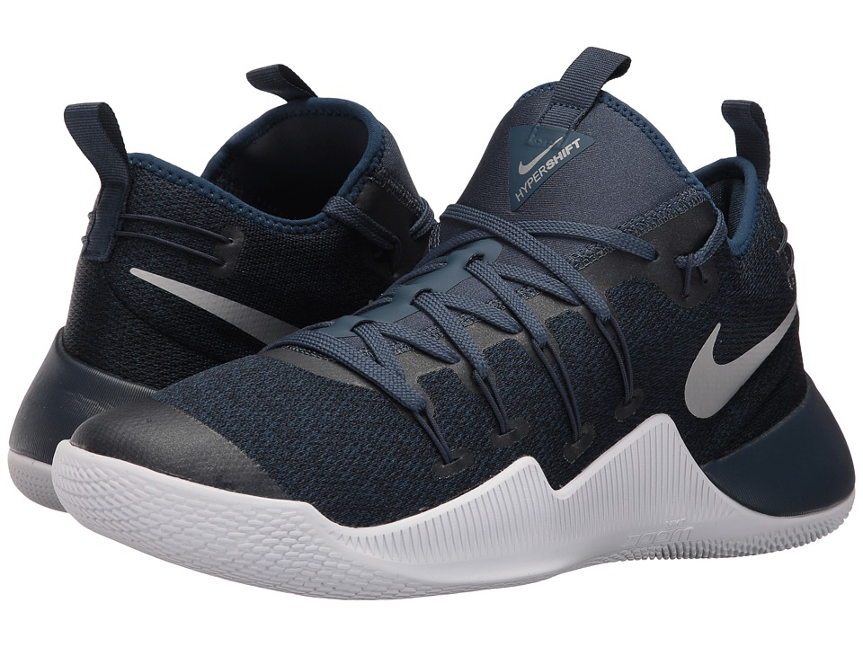 Nike - Hypershift (Squadron Blue/Metallic Silver/White) Men's Basketball Shoes