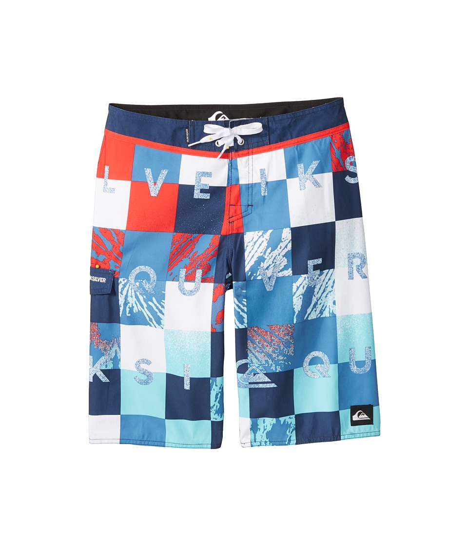 Quiksilver Kids - Check Remix Trunks (Big Kids) (Navy Blazer) Boy's Swimwear
