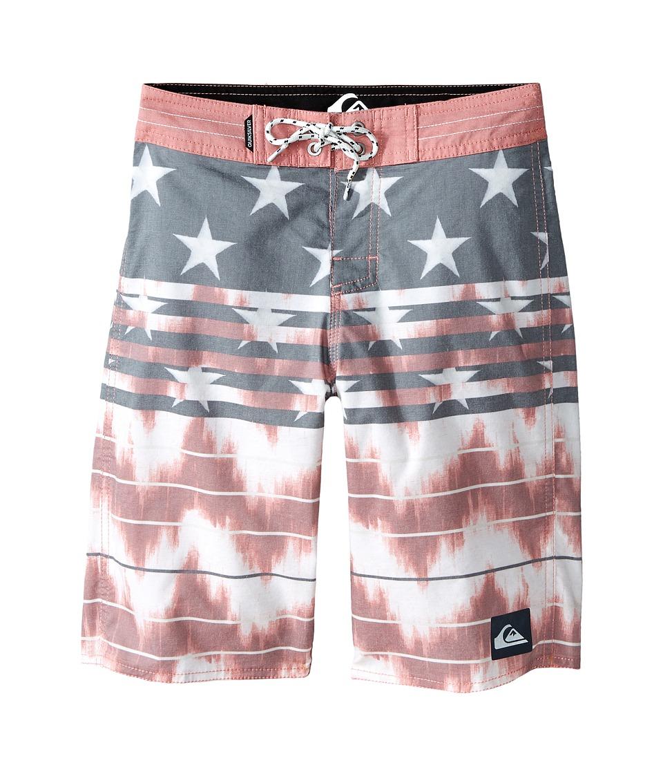 Quiksilver Kids - Swell Americana Trunks (Big Kids) (American Beauty) Boy's Swimwear
