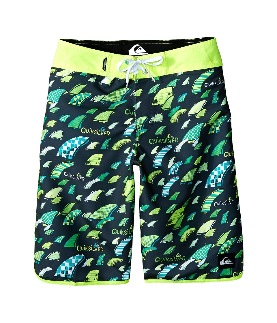 Quiksilver Kids - Fins Party Trunks (Big Kids) (Tarmac) Boy's Swimwear