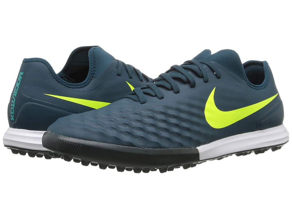 Nike - Magistax Finale II TF (Mid Turquoise/Volt/Hasta/Gum Light Brown) Men's Shoes