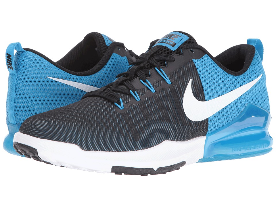 Nike - Zoom Train Action (Black/White/Blue Glow/White) Men's Cross Training Shoes