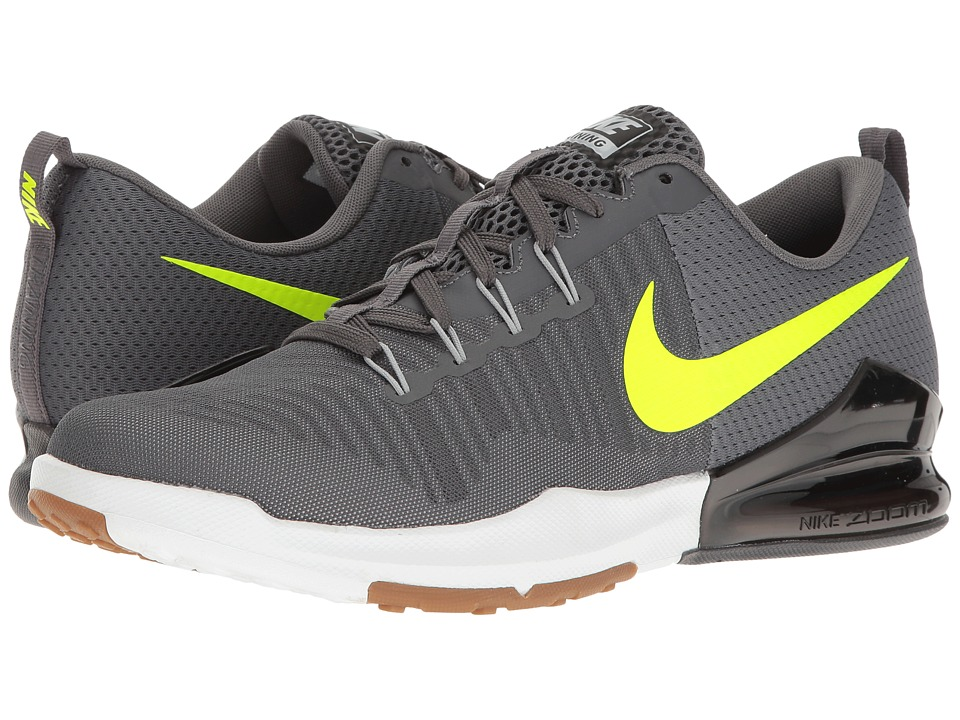 Nike - Zoom Train Action (Dark Grey/Volt) Men's Cross Training Shoes