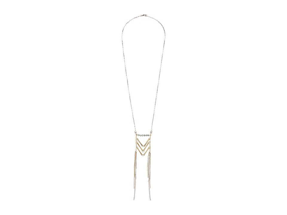 Gabriella Rocha - Sierra Multi-Chain Necklace with Marble Detail (Gold/Silver) Necklace