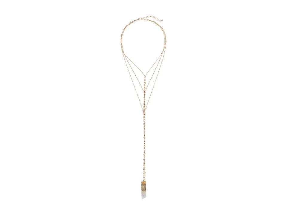 Gabriella Rocha - Cheyenne Multi-Chain Quartz Necklace (Off-White) Necklace