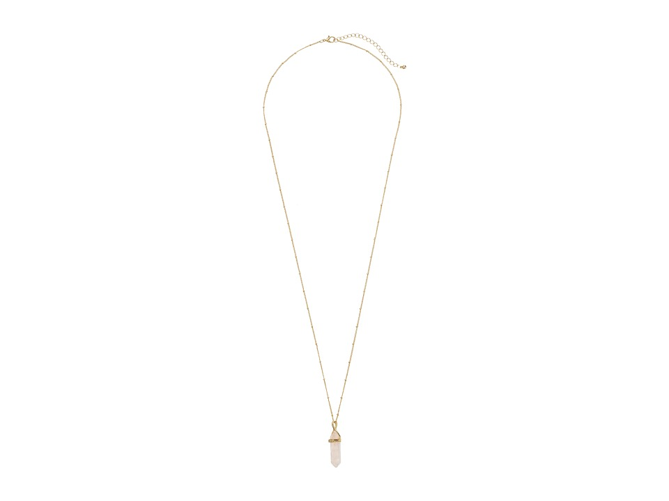 Gabriella Rocha - Heather Stone Pendant Long Necklace (Rose) Necklace