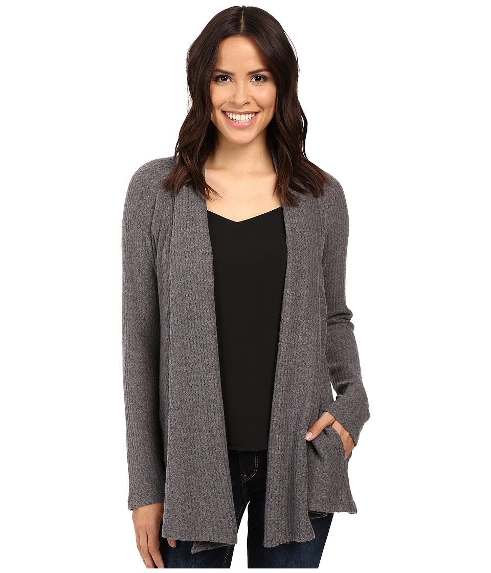 B Collection by Bobeau - Lynne Knit Cardigan (Charcoal Grey) Women's Sweater