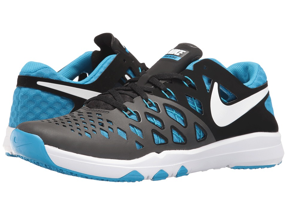 Nike - Train Speed 4 (Black/Blue Glow/White) Men's Shoes