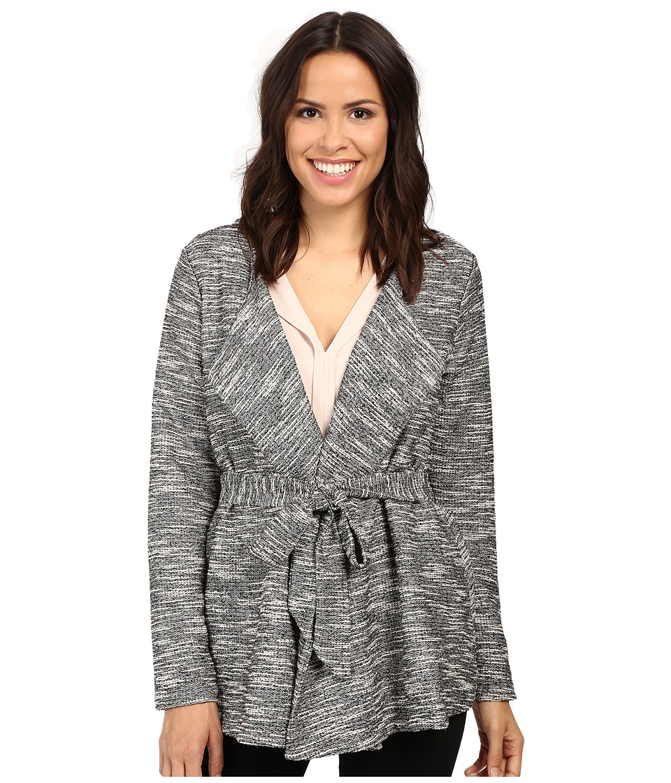 B Collection by Bobeau - Brealyn Lurex Tie Waist Cardigan (Black Mix) Women's Sweater
