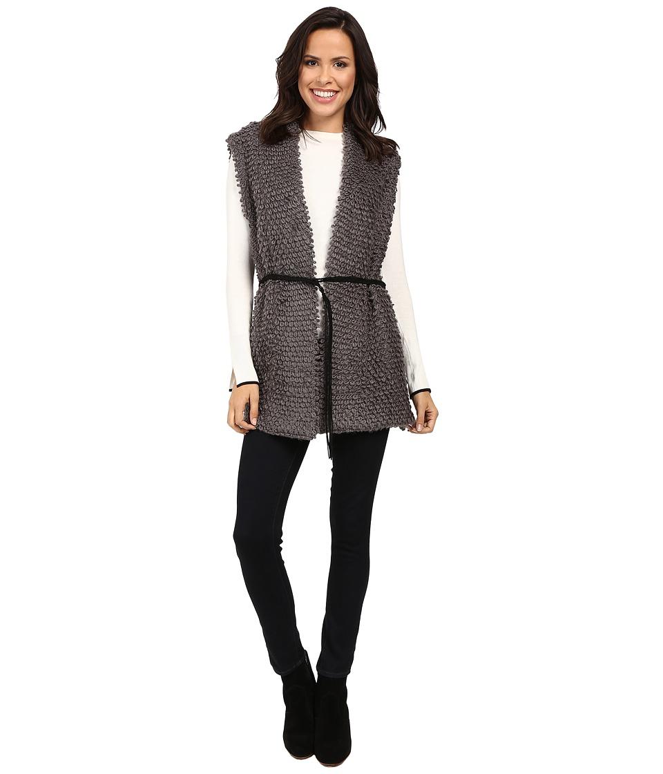 B Collection by Bobeau - Judy Loop Fringe Vest (Grey) Women's Vest