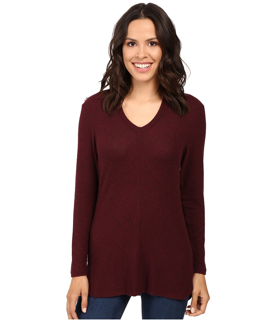 B Collection by Bobeau - Sweater Hoodie (Burgundy) Women's Sweatshirt