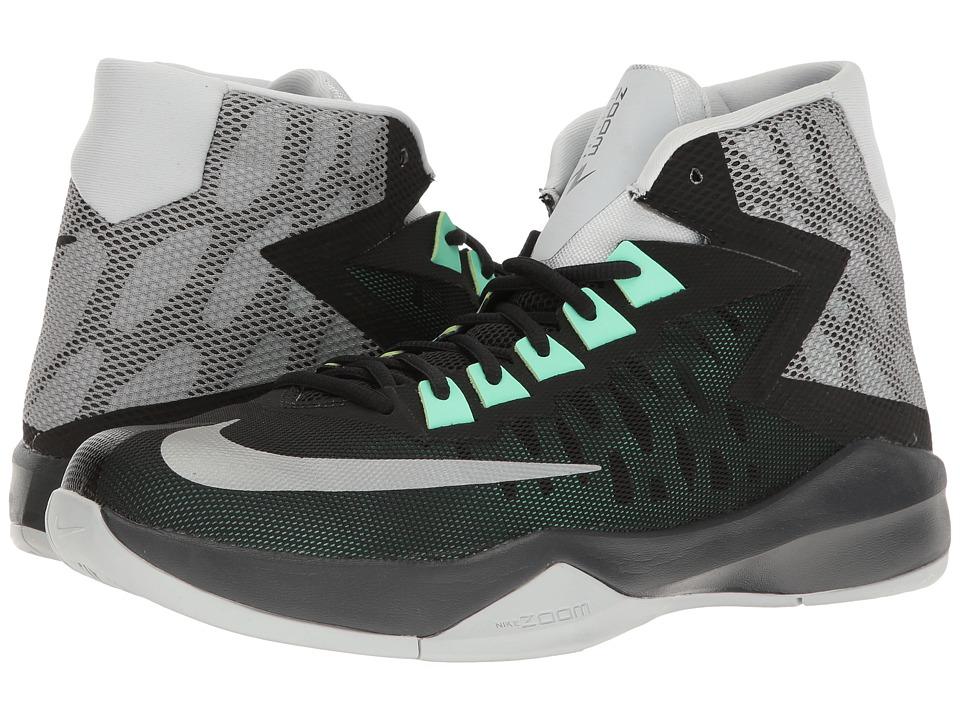 Nike - Zoom Devosion (Black/Reflective Silver/Metallic Silver/Pure Platinum) Men's Basketball Shoes