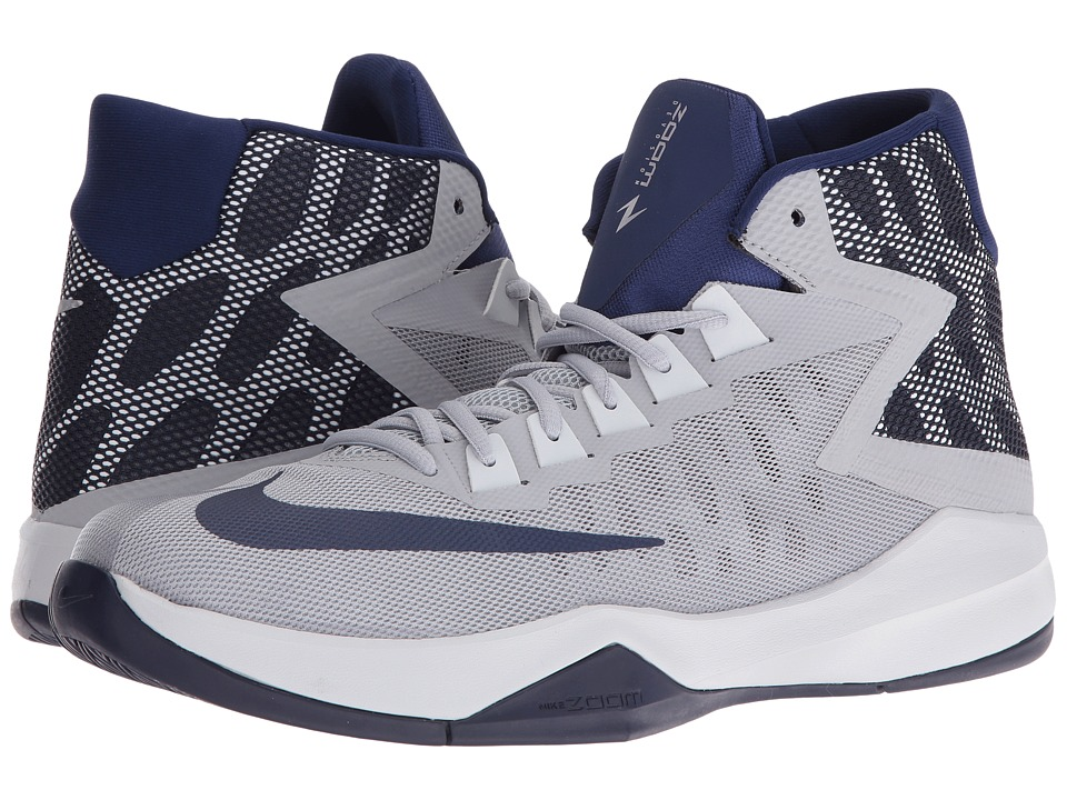 Nike - Zoom Devosion (Wolf Grey/Loyal Blue/Game Royal/Pure Platinum) Men's Basketball Shoes